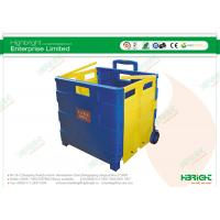 China 35 kg Foldable Grocery Shopping Cart Plastic Combination of Colors 420x405x380mm on sale