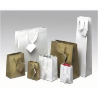 Buy cheap Transfer Printing White Paper Custom Printing Gift Bags for Shopping from wholesalers