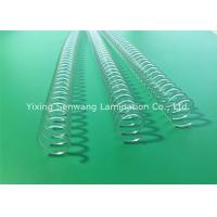 Clear Spiral Binding Coils Books Twin Loop Wire 11.0 mm Binding Capacity Manufactures