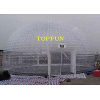 8m Diameter Inflatable Party Tent Clear Dome Tent Noncontinuous Type Manufactures