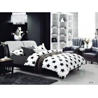 100 Percent Polyester Girls Bedroom Bet Sets Black And Whtie Striped Bedding Manufactures