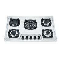 Five Burner Gas And Electric Hob Combined With Cast Iron Round Pan Support Manufactures