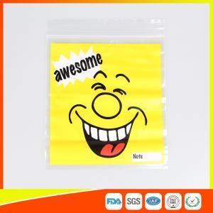 Custom resealable plastic bags , Self-Adhesive Header Plastic Ziplock Bags Manufactures