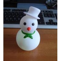 Outdoor 7 Color Snowman Christmas Lights , Led Christmas Snowman Eco Friendly PVC Manufactures