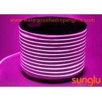2835 120LED / M LED NEON Rope Light DC 12V LED Pink Strip Lights For Swimming Pool Manufactures