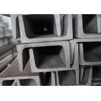 SS304 SS201 Channel Stainless Steel , Heat Resistant U Channel Steel Manufactures
