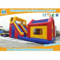 Durable Commercial Inflatable Slide With House / Outdoor Inflatable Kids Slide With Professional Design Manufactures