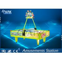 English Version 4 Person Air Hockey Table Fiberglass Material Manufactures