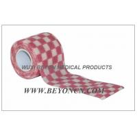 Cohesive Bandages OEM Pink Check Elastic Wrap Custom Printed For Fixation Manufactures