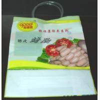 Quality Colorful Plastic Shopping Bag Loop Handle Bags For Sausage ,  Vegetables for sale