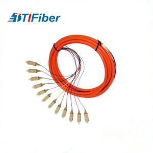 Simplex Duplex 12 cores Fiber Optical  Pigtail OM2 50um For FTTH Network Manufactures