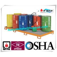 Galvanized Steel Pallet Spill Containment Drum Platform For Multi Drums Storing Manufactures