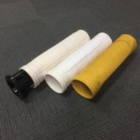 Non woven needle punched Nomex dust filter bag DN 130x2450mm special used in asphalt mixing plant bag filter Manufactures