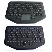 Stand Alone Industrial Illuminated Keyboard With Trackball Black Color Manufactures
