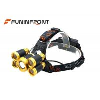 5000LMs Adjustable Focus Outdoor CREE LED Headlamp, 4 Gears Bicycle Zoom Lights Manufactures