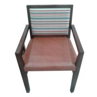 wooden frame fabric/PU dining chair DC-0016 Manufactures