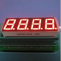 """High Brightness 0.56"""" 4 Digit 7 Segment Nnmeric Led Display Ultra Red For Temperature Indicator Manufactures"""