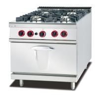 LPG / Natural Gas 4 Burner Cooking Range Impulsive Ignition Stainless Steel Gas Stove Manufactures