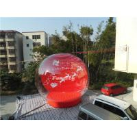 0.6mm PVC Tarpaulin Giant Inflatable Christmas Snow Globe For Winter Festival Manufactures