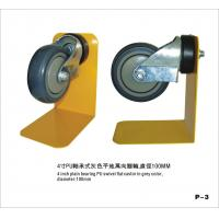 PU Swivel Hospital / Shopping Trolley Castor Wheels In Grey Color CE GS ROSH Manufactures