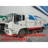 Quality dongfeng 4*2 street high pressure cleaning sweeper truck, hot sale best price highpressure washing truck on road sweeper for sale