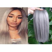 Two Tone Color Peruvian Human Hair Extensions Ombre , Pastel Ombre Hair Extensions  For Braiding Manufactures