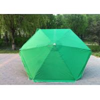 Waterproof Green Round Beach Umbrella Uv Protection For Various Occasions Manufactures