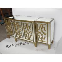 Quality Patterns Mirror Side Board , W160 * D40 * H80cm Mirrored Buffet Cabinet for sale