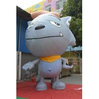 Inflatable Advertising Products Grey Show Wolf  3m Height Fireproof Manufactures