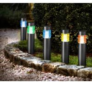 Quality Solar Power Square Bollard Lights , 4 LMS - 10 LMS Decorative Bollard Lights for sale