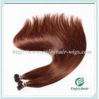 "Pre-Bonded Hair 10""-28"" 100s/pack 33# color Straight Human Hair hair extension malaysian Manufactures"