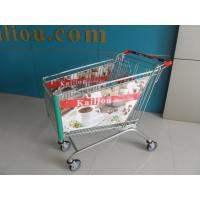 180L Acrylic Advertisement Supermarket Shopping Trolley 4 Wheels ISO9001 - 2008 Manufactures