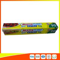 Anti Fog Clear Cling Film For Packing Vegetable / Fruit , Biodegradable Cling Wrap Manufactures