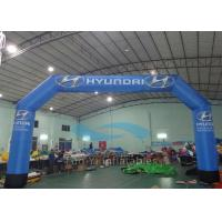 Durable Blue PVC Inflatable Finish Line Race Arch CE / EN71 Certificated Manufactures