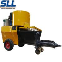 Automatic Exterior Wall Plastering Machine Cement Rendering Machine In Yellow Manufactures