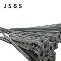Quality 3mm Thick Hot Dip Galvanized Electric Steel Pole , Steel Tubular Poles Q235 for sale