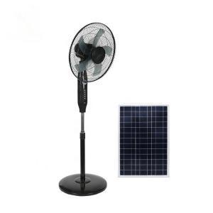 Black 16in 24000mah Remote Control Pedestal Fan Copper Motor Manufactures