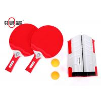 Plastic Portable Table Tennis Set With Thick Smooth Side Paddles 410g Weight Manufactures