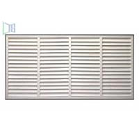 Quality Professional Glass Jalousie Windows , Powder Coating White Window Shutters for sale