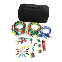 China Electronic Multimeter Probe Test Lead Kit Spade Lugs Alligator Clips Banana Pugs Set on sale