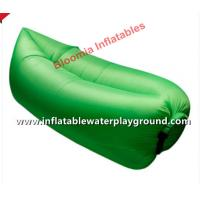 Quality Green Nylon Inflatable Sleep Bag Sofa Seat With 2 Holes Outdoor Relaxing for sale
