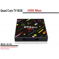 Wholesale factory price android 7.1 smart tv box H96 MAX H2 RK3328 4 core 4G 64G Dual WIFI KD player Manufactures