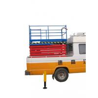 Quality 2.2Kw Manganese Steel Truck Mounted Scissor Lift with Four Wheel , 11 m for sale