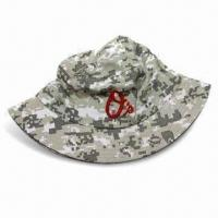 Men's Floppy Hat with All Over Printing Digital Camouflage Pattern Manufactures