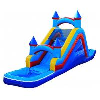 0.55MM PVCurable Inflatable Water Slide With Water Pool For Children In Outdoor Manufactures