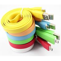 China 1M Colorful USB Noodle Cable, USB Date Charger For Sumsung on sale