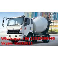 HOWO light duty 4-6m3 concrete mixer truck for sale, factory direct HOWO LHD 4*2 130hp diesel 4m3 truck mounted mixer Manufactures