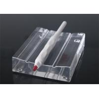 China 3D Brows White Disposable Manual Tattoo Pen / Microblading Tools Attached #12 Blade on sale