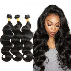 100 Virgin Peruvian Human Hair Weave / Natural Body Wave Hair Extensions Manufactures