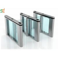 Supermarket Swing Gate Barrier, 600mm Width Glass Arm Speed Turnstile System Manufactures